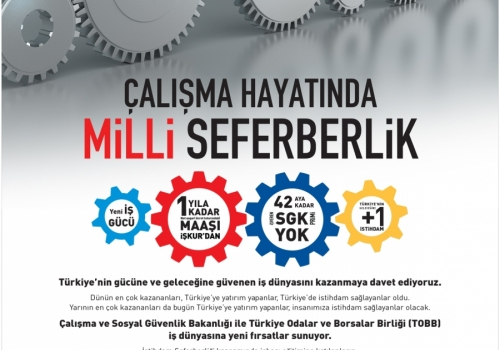 Türkiye'nin Geleceğine sende 1 İstihdam Sağla