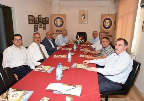 Ege Bölgesi Sanayi Odası Başkanı Sayın Ender YORGANCILAR ve Heyeti ile TOBB Borsalar Müdürü Ödemiş Ticaret Borsası'nı ziyaret etti.