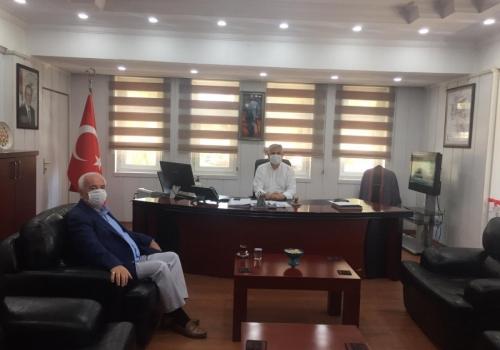 Ödemiş Ticaret Borsası Yönetim Kurulu Başkanı A.Latif AKA Kamu Kurumlarına ziyarette bulundu.