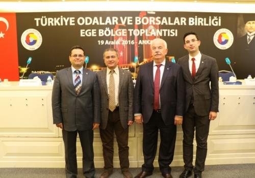 Ödemiş Ticaret Borsası TOBB' nin Ege Bölgesi Toplantısına Katıldı.